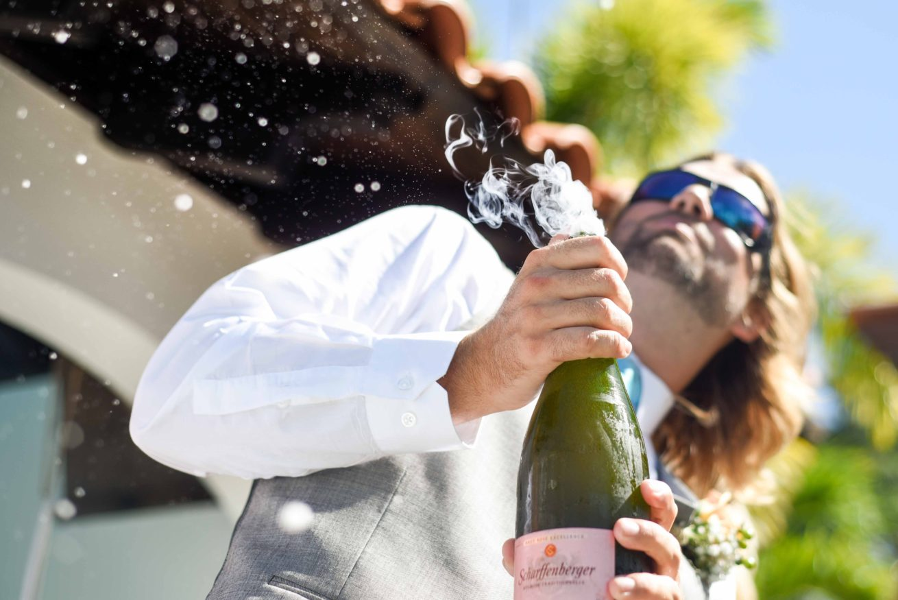 Fun champagne photo