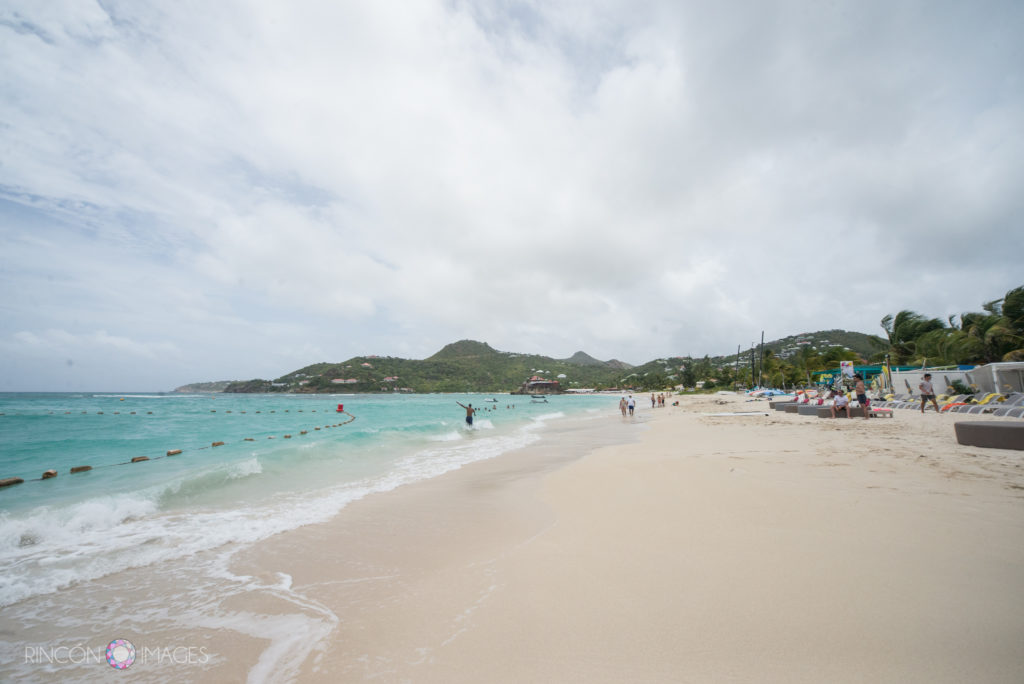 Photograph of the beach in front of La Plage, St Barths