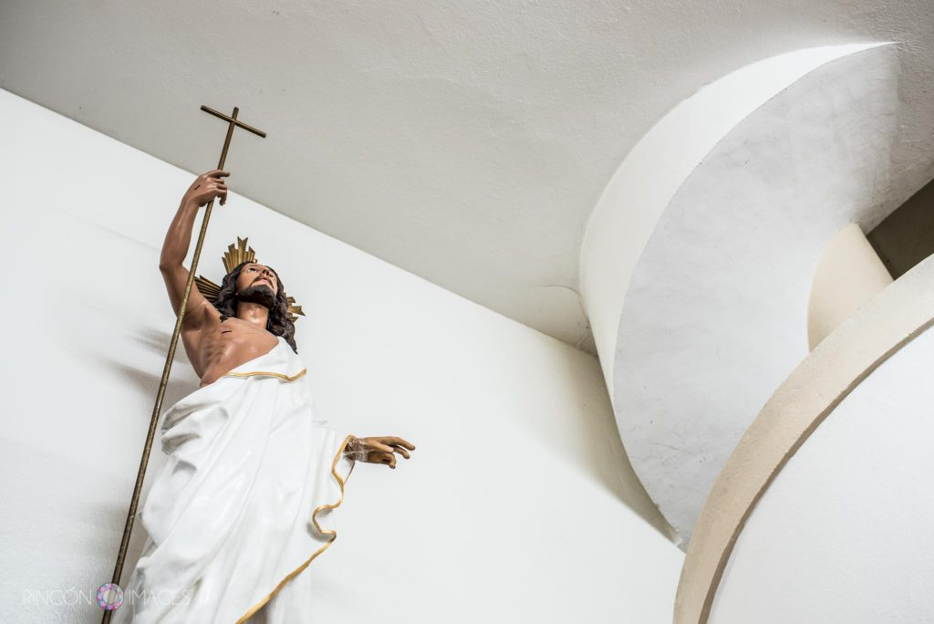 Photograph of a Jesus statue inside the Catholic Church in Rincon, Puerto Rico